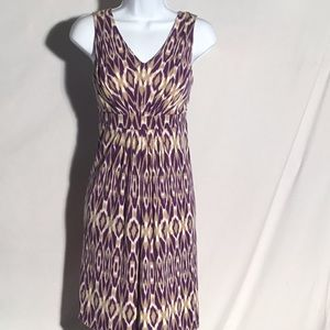 LOFT Purple Print Dress